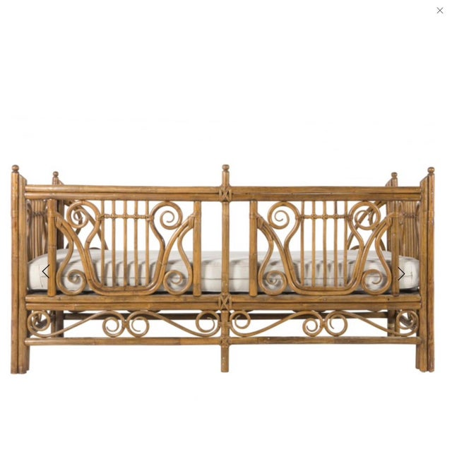 Fabulous vintage rattan/bamboo daybed by Ralph Lauren. Extremely well made with heavy thick rattan, and metal springs...