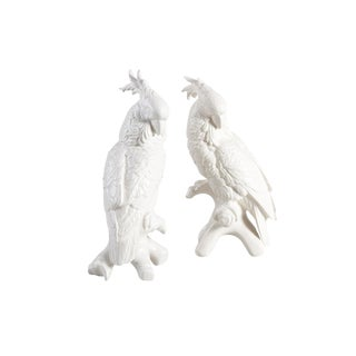Contemporary Chelsea House Inc. Lg Cockatoo Figurines - a Pair For Sale