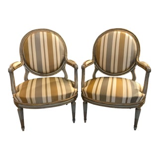 Late 18th Century Vintage French Fauteuils- A Pair For Sale