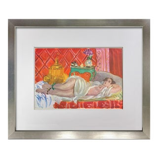 "Vintage Framed ""Red Odalisque"" Lithograph by Henri Matisse Signed Limited Edition For Sale"