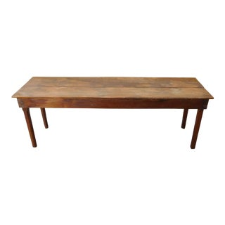 Shop Made Extremely Primitive Rustic Pine Narrow Console Sofa Table c1880