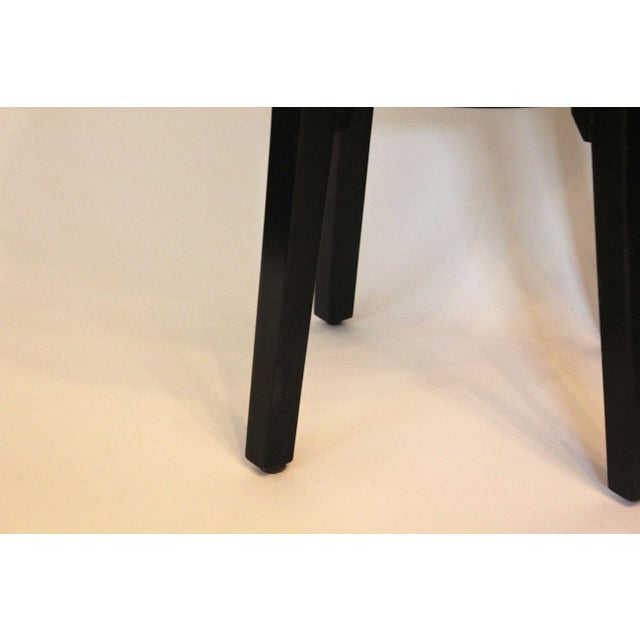 Contemporary Contemporary Round End Tables With Emu Leather Tops - a Pair For Sale - Image 3 of 6