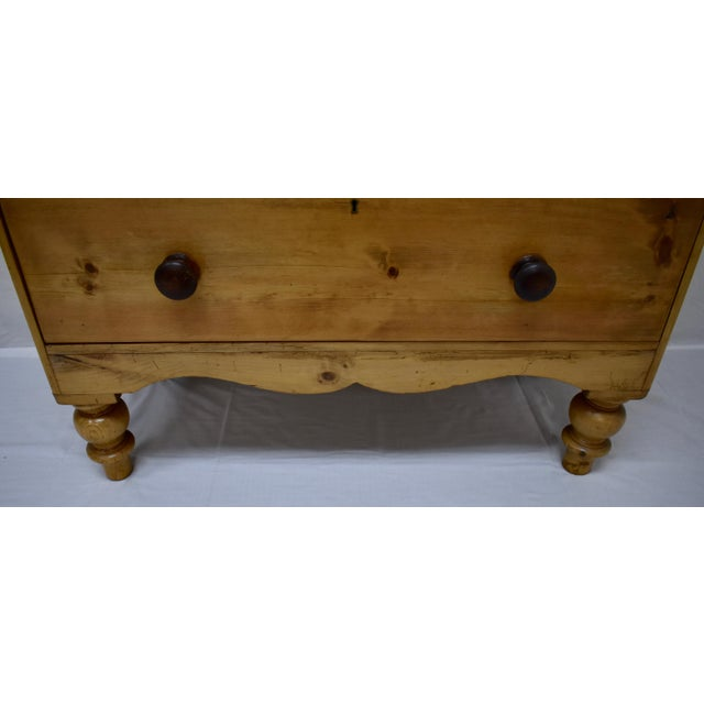 English Victorian Pine Chest of Drawers For Sale - Image 10 of 12