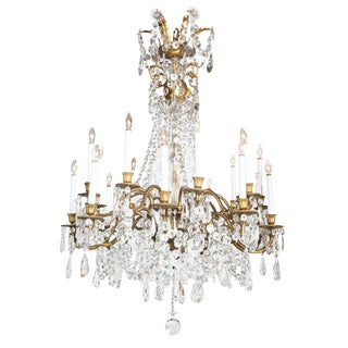 Crystal & Bronze 18-Light Chandelier from the Ritz Carlton on Palm Beach For Sale
