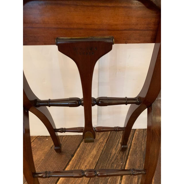 Versatile Campaign Style Mahogany Side or Dining Table For Sale - Image 11 of 13