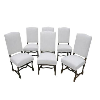 1920s Antique French Dining Side Chairs - Set of 6