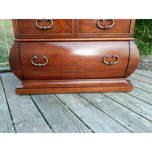 1966 Drexel Et Cetera Kettle Base Walnut 3 Drawer Accent Chest For Sale - Image 11 of 13