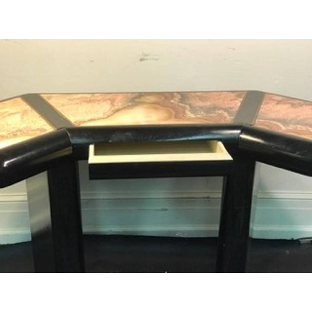 Beautiful Italian Marble Top Console Table For Sale - Image 9 of 9
