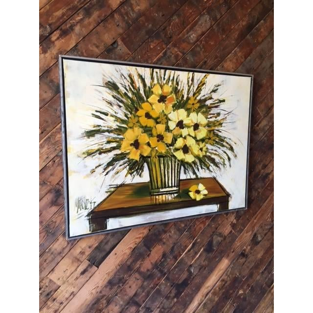 Mid Century Still Life Floral Oil Painting - Image 3 of 4
