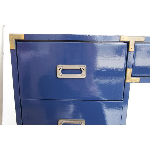 Navy Campaign-Style Desk - Image 6 of 7