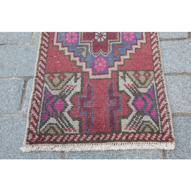 Antique Turkish Carpet - 1′6″ × 3′1″ - Image 4 of 11