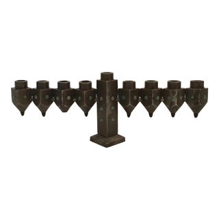 Steel & Stones Menorah