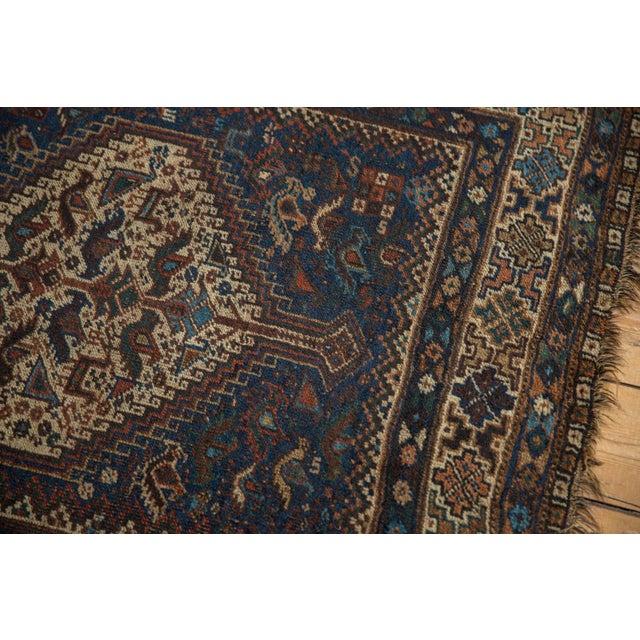 "Vintage Qashqai Rug - 3'8"" x 5'6"" For Sale - Image 5 of 13"