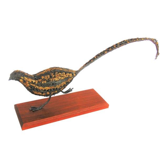 Mid-Century Brutalist Pheasant Sculpture - Image 1 of 5