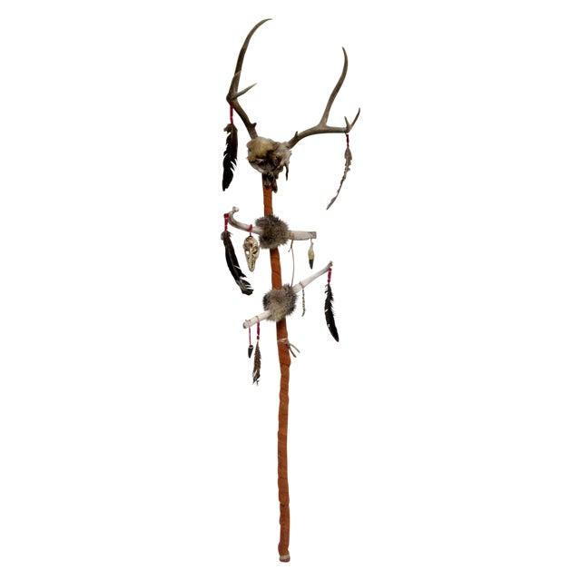Vintage Native American Ceremonial Walking Stick For Sale