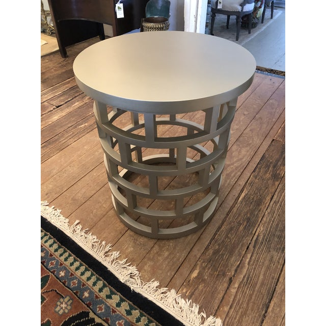 2010s Silver Contemporary Side Table For Sale - Image 5 of 8
