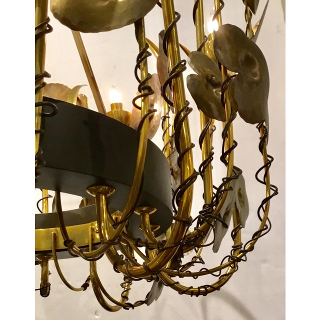 Studio A Home Modern Brutalist Style Lily Pad Chandelier By: Studio a Home For Sale - Image 4 of 6