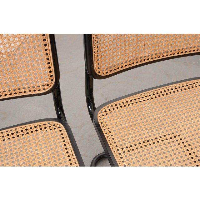 Vintage Bauhaus-Style Steel Side Chairs - Set of 4 For Sale - Image 9 of 10