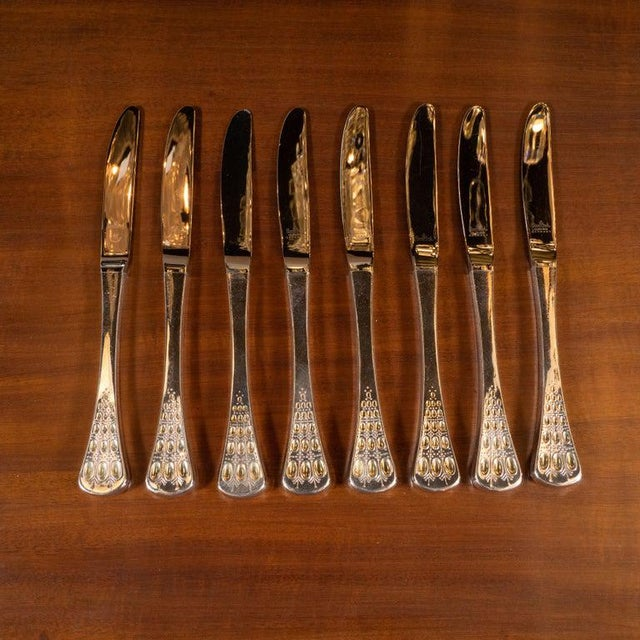 Mid-Century Modern Mid-Century Romance Sterling Silver Service for 8 by Bjørn Winbald for Rosenthal For Sale - Image 3 of 13