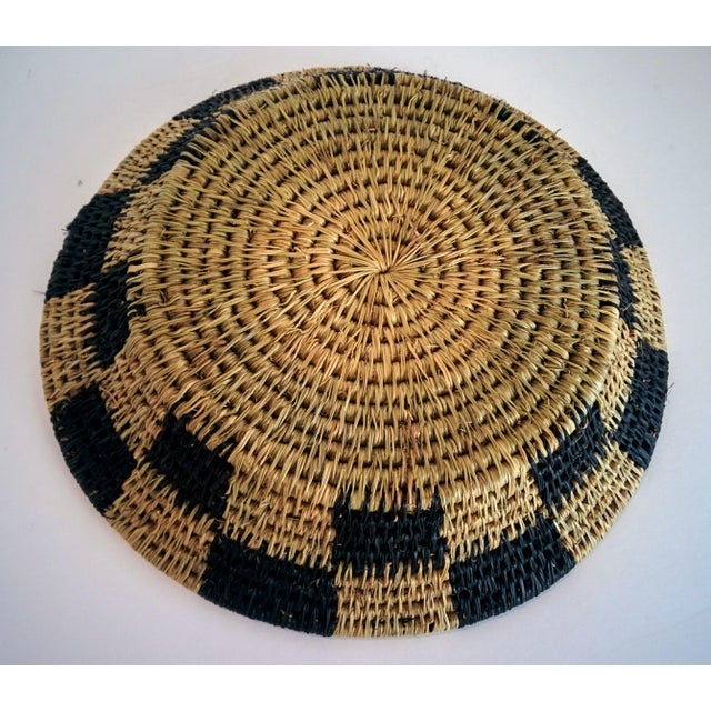 Handwoven African Catch All Boho Chic Basket - Image 7 of 8