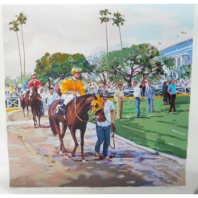 """Riders Up"" Signed Serigraph by Robert Schaar - Image 2 of 10"