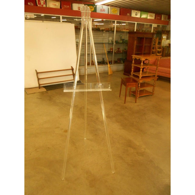 Mid-Century Acrylic Lucite Tripod Easel - Image 3 of 4