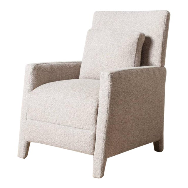 Contemporary Verellen Tan Wool Upholstered Alois Recliner For Sale