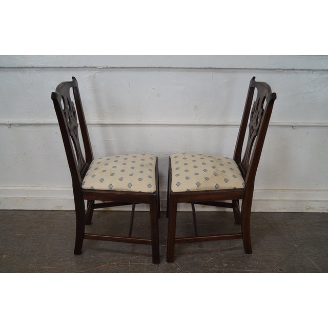 Henkel Harris Solid Mahogany Chippendale Style Dining Chairs - Set of 6 - Image 9 of 10