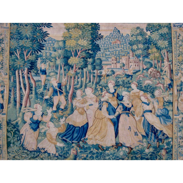 Large 16th Century Flemish Tapestry Wall Hanging For Sale - Image 12 of 13