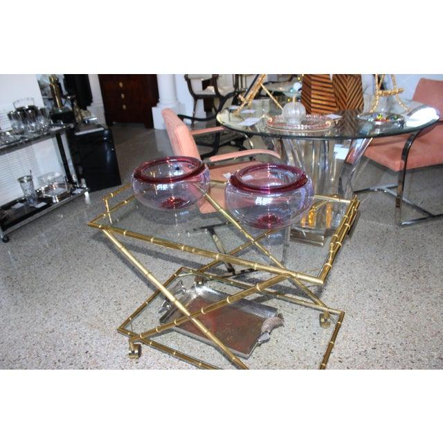Mid-Century Modern Royal Copenhagen Violet Raspberry Crystal Bowl For Sale - Image 10 of 12