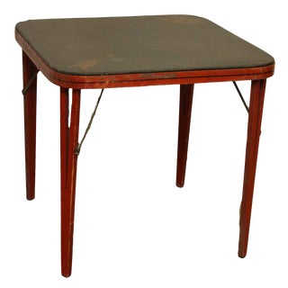Vintage Asian Design Card Table For Sale