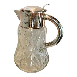 Cut Crystal & Silver Pitcher