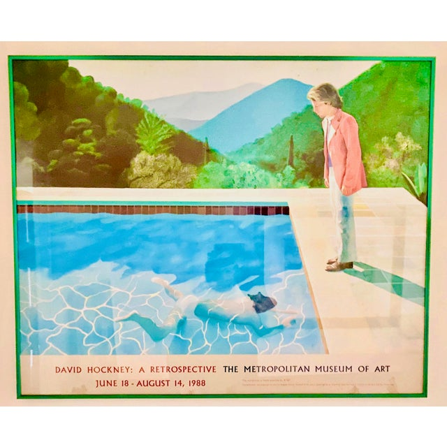 "Mid-Century Modern Original Exhibit Poster ""David Hockney: A Retrospective"" Metropolitan Museum of Art 1988 For Sale - Image 3 of 11"