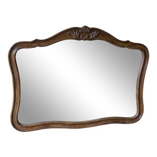 Vintage French Provincial Wood Framed Mirror For Sale