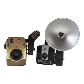 Vintage Kodak Brownie Cameras Bulls Eye & Hawkeye - A Pair For Sale