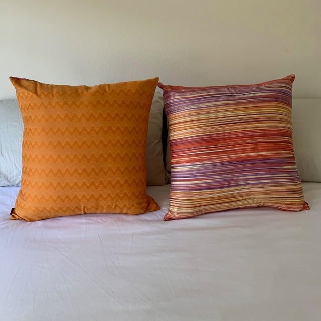 Missoni Missoni Home Large Decorative Pillows - Pair For Sale - Image 4 of 10