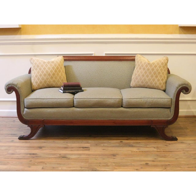 Vintage 1930's Duncan Phyfe Style Sofa For Sale - Image 12 of 13