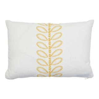 Schumacher Camile Lumbar Pillow in Yellow For Sale