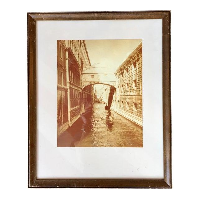Vintage Sepia Photograph of Venice For Sale