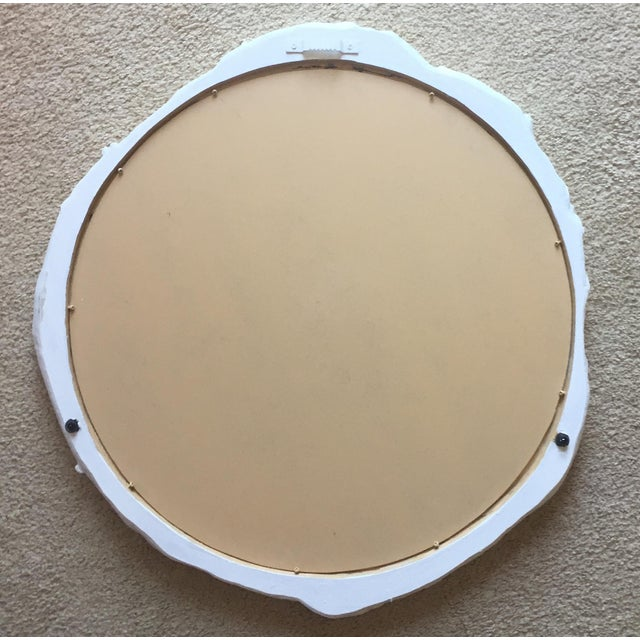 """Vintage 23"""" Faux Bois Wall Mirror For Sale - Image 4 of 6"""