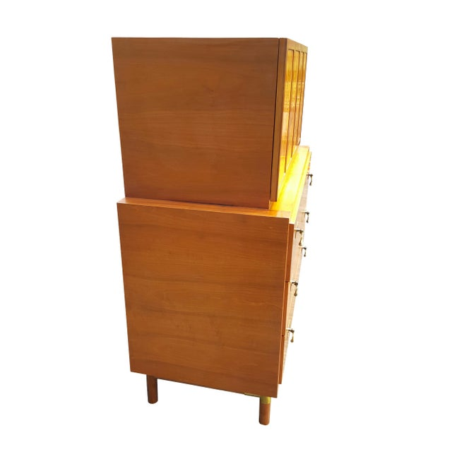 Brown 1960's Red Lion Mid-Century Modern Dresser For Sale - Image 8 of 10