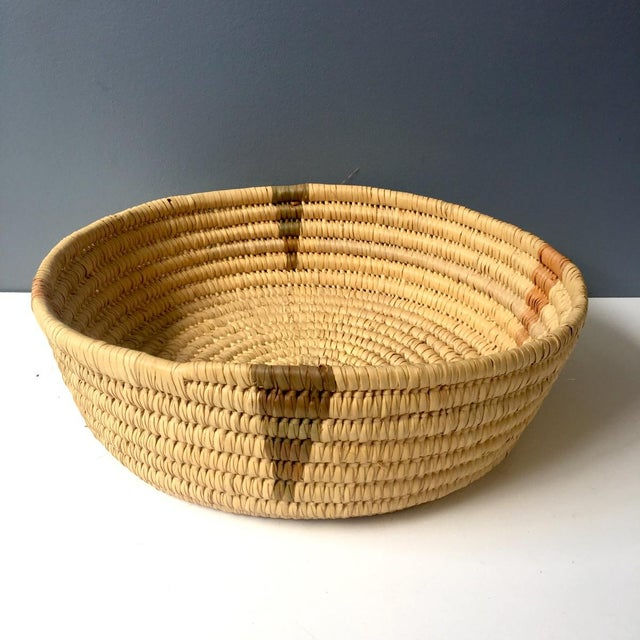 Coiled Large Woven Basket For Sale In Boston - Image 6 of 6