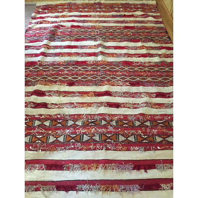 """Late 20th Century Tribal Moroccan Wedding Rug - 5'7"""" X 8'2"""" For Sale - Image 5 of 8"""