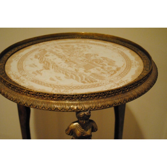 Antique Brass Pedestals - Pair - Image 5 of 9