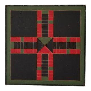 1993 Vintage Geometric Art Painting . For Sale