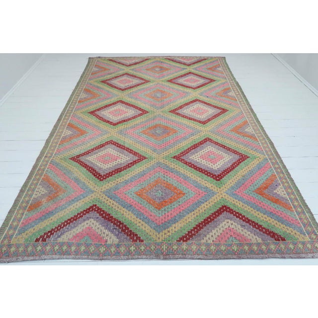 Anatolian Kilim Turkish Embroidery Rug For Sale - Image 13 of 13