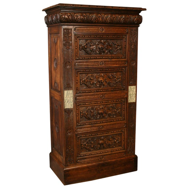 Antique French Renaissance-Style Chest of Drawers - Image 1 of 8