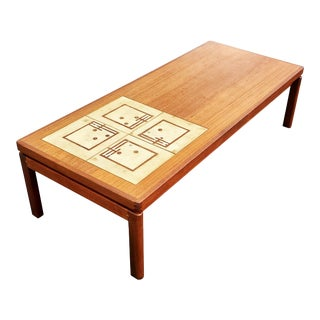 AMid-Century Coffee Table With Ceramic Tiles by Hw Klein For Sale