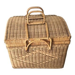 1950s Vintage French Basket For Sale