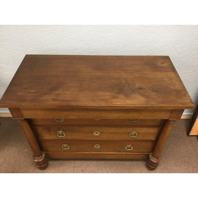 Brown 19th Century French Empire Commode For Sale - Image 8 of 10